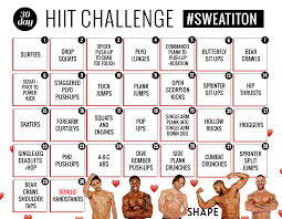 Challenge Rate 30 Day Challenge Rate Boosting Hiit Workout Shapes