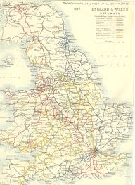 Map Of Wales 1887 Prinicipal Railways In England And Wales Map England