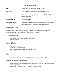 Janitor Job Description For Resume by Janitor Job Description Example 9 Free Word Pdf Documents