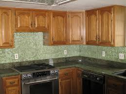 home accessories awesome wooden kitchen cabinet with green glass