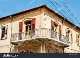 balcony old european house windows wooden stock photo 647396137