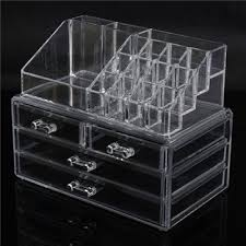 4 drawer acrylic clear make up organizer cosmetic display nail