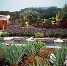 contemporary formal garden landscape mediterranean with wood