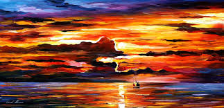Afremov Quadri by Images Of Pin Hd Sunset Painting Sc