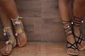 diy pom pom gladiator sandals diy choker video www