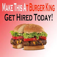 are you looking for a job burger king application