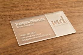 clear buisness cards new materials to inspire innovation matte finished clear and two