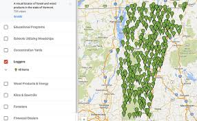 Vermont forest images New interactive map locates vermont forest products and services jpg