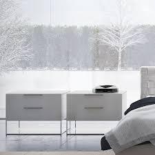 bedroom nightstand bedside nightstand dark wood mirrored
