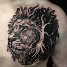lion tattoo design on chest 7 tb1080 ライオンのタトゥー