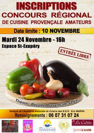 concours de cuisine le 7e concours régional de cuisine provençale aura lieu le