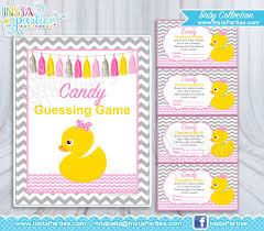 rubber duckie baby shower baby shower guess candy jar tickets girl baby shower
