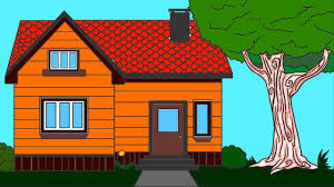 coloring house for kids coloring pages for kids learn colours