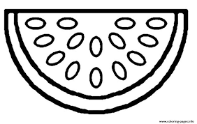 free watermelon fruit s1f24 coloring pages printable