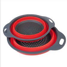 passoire de cuisine 2 pcs ensemble pliable silicone passoire de cuisine pliante silicone