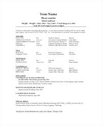 resume template open office technical theatre the general format