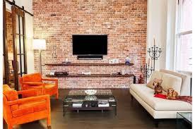 brick wall design fantastic retro living room design with exposed brick wall decomg