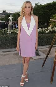 diane kruger is chic in lilac sailor dress as she parties with