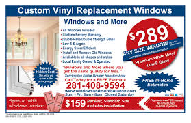 Free Window Replacement Estimate by Coupons Vinyl Windows Replacement Call Us 281 408 9594