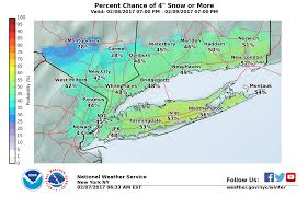 Snowfall Totals Map Long Island Weather Forecast Snowfall Estimate Maps Released For