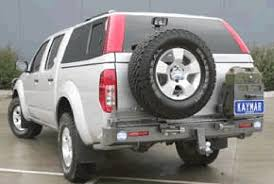 nissan frontier np300 accessories kaymar rear bars spare wheel carriers jerrycan holders