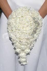 silk wedding flowers large ivory artificial wedding bridal bouquet