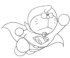 doraemon as superman coloring page boys pages of
