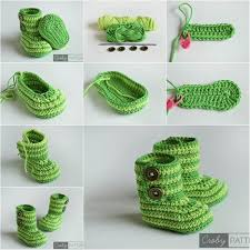 baby bootie ornament creative ideas diy crochet baby booties with free pattern