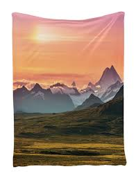 Brown And Orange Home Decor Amazon Com Sunset And Mountains Wall Hanging Tapestry With