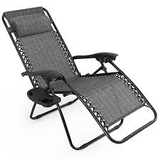 gray zero gravity patio chairs 2 pack