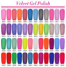 24pcs special uv soak off matte effect velvet gel nail polish for