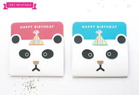 printable panda birthday cards panda party theme