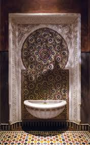 mediterranean style bathrooms moroccan bathroom set tile shower design bath black and white wall