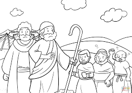 the people gathered in opposition to moses and aaron coloring page
