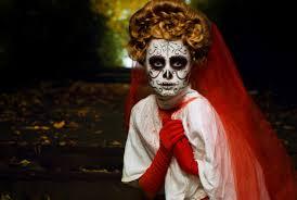 costume halloween horror forest bride mask suffering