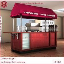 cabinet shop for sale customized indoor coffee shop display cabinet design coffee shop
