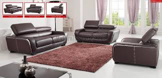 Modern Leather Living Room Furniture 2750 Leather Living Room Set By Esf