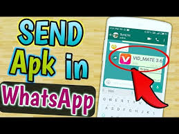 watsapp apk file send or app apk via whatsapp any apk file on