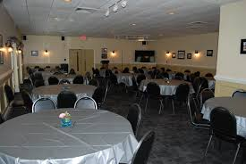 standard party table size hall rental