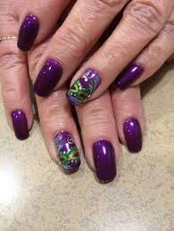 mardi gras nail https flic kr p ptb9rm acrylic nails with mardi gras accent