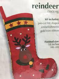 christmas felt stocking house crafts kit