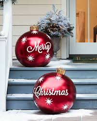 outdoor merry ornaments set of 2 decor