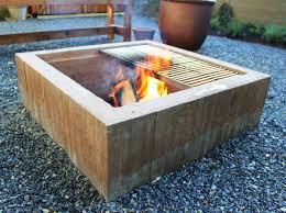 Diy Backyard Fire Pit Ideas by Square Concrete Fire Pit Google Search Back Yard Pinterest