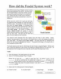 how did the feudal system work worksheet year 7 pdf download