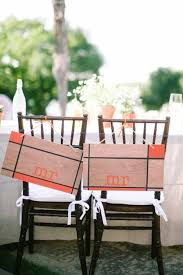 Wedding Chair Signs Bride And Groom Chair Signs For Every Couple U0027s Style Mywedding