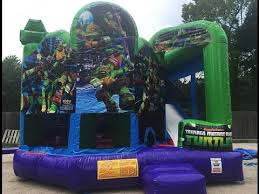 bounce house rentals houston tmnt 5in1 bounce house houston sky high party rentals
