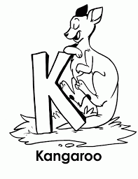 excellent kangaroo coloring page awesome color 827 unknown