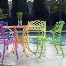 Lime Green Bistro Table And Chairs Cross Weave Patio Bistro Set Bright Patio Furniture That Is