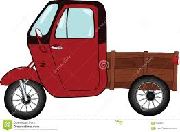 tricycle cartoon the old car cartoon stock image image 20548821