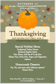 we will be open for thanksgiving dinner from 3pm 8pm picture of